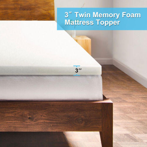2 3 inch 45d single layer memory foam mattress topper twin full queen size ebay. Black Bedroom Furniture Sets. Home Design Ideas