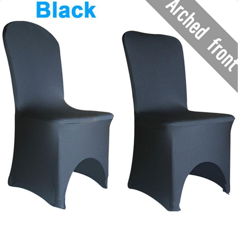 Folding chair covers wholesale under 1 - 1 10 25 50 100 Black Spandex Fitted Folding Chair Covers Wedding Party Banquet