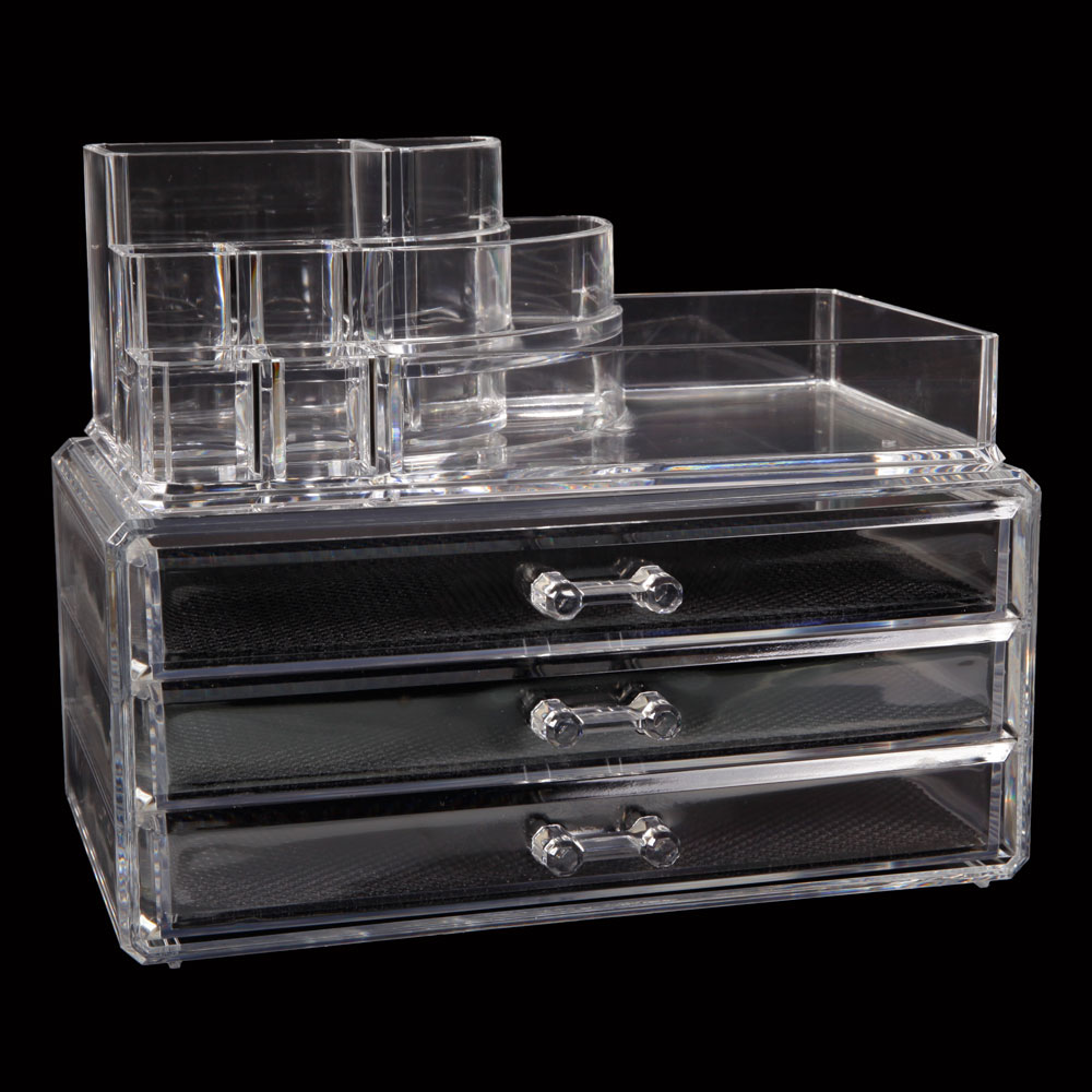 Acrylic Box Organiser : Makeup cosmetics jewelry organizer acrylic display box