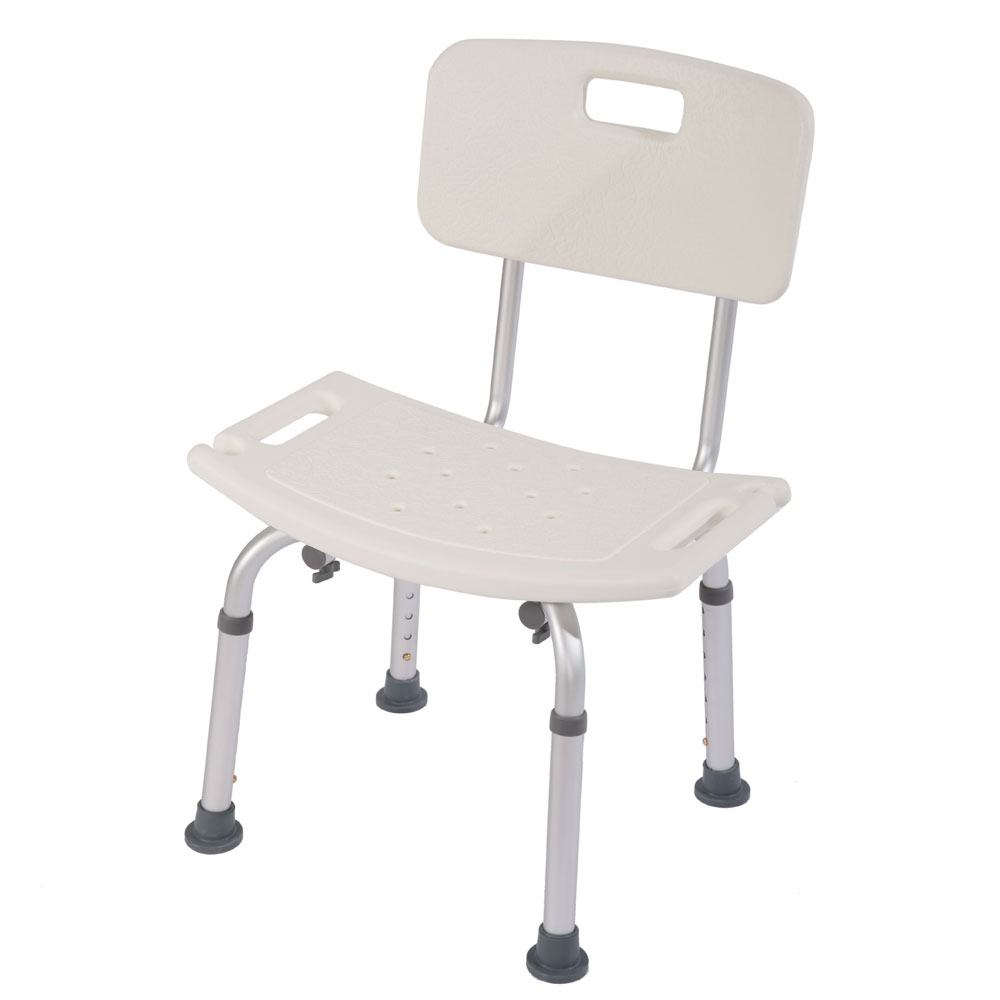 Adjustable Height Bath Shower Seat Stool Chair Mobility Disability ...