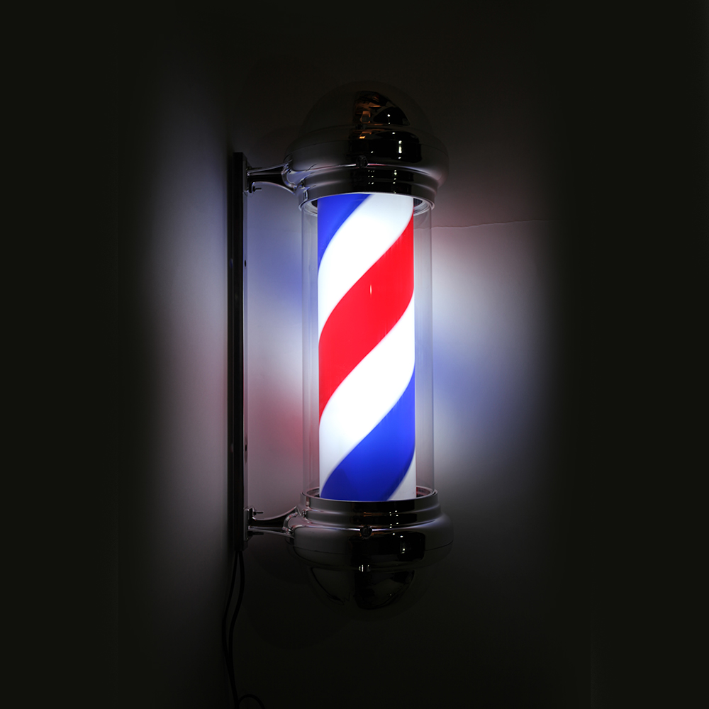 "30"" Modern Barber Shop LED Light Sign Hair Salon Pole Red"