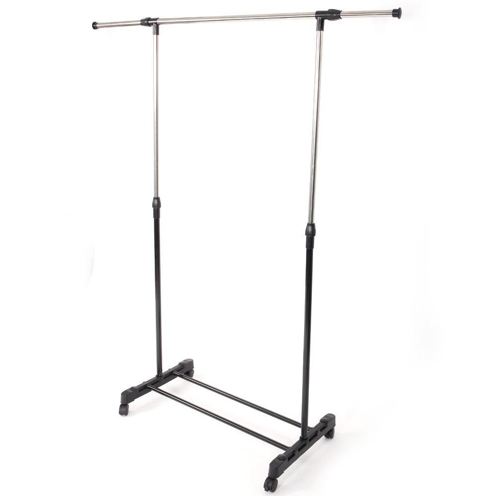 Adjustable Rolling Garment Rack Heavy Duty Clothes Hanger
