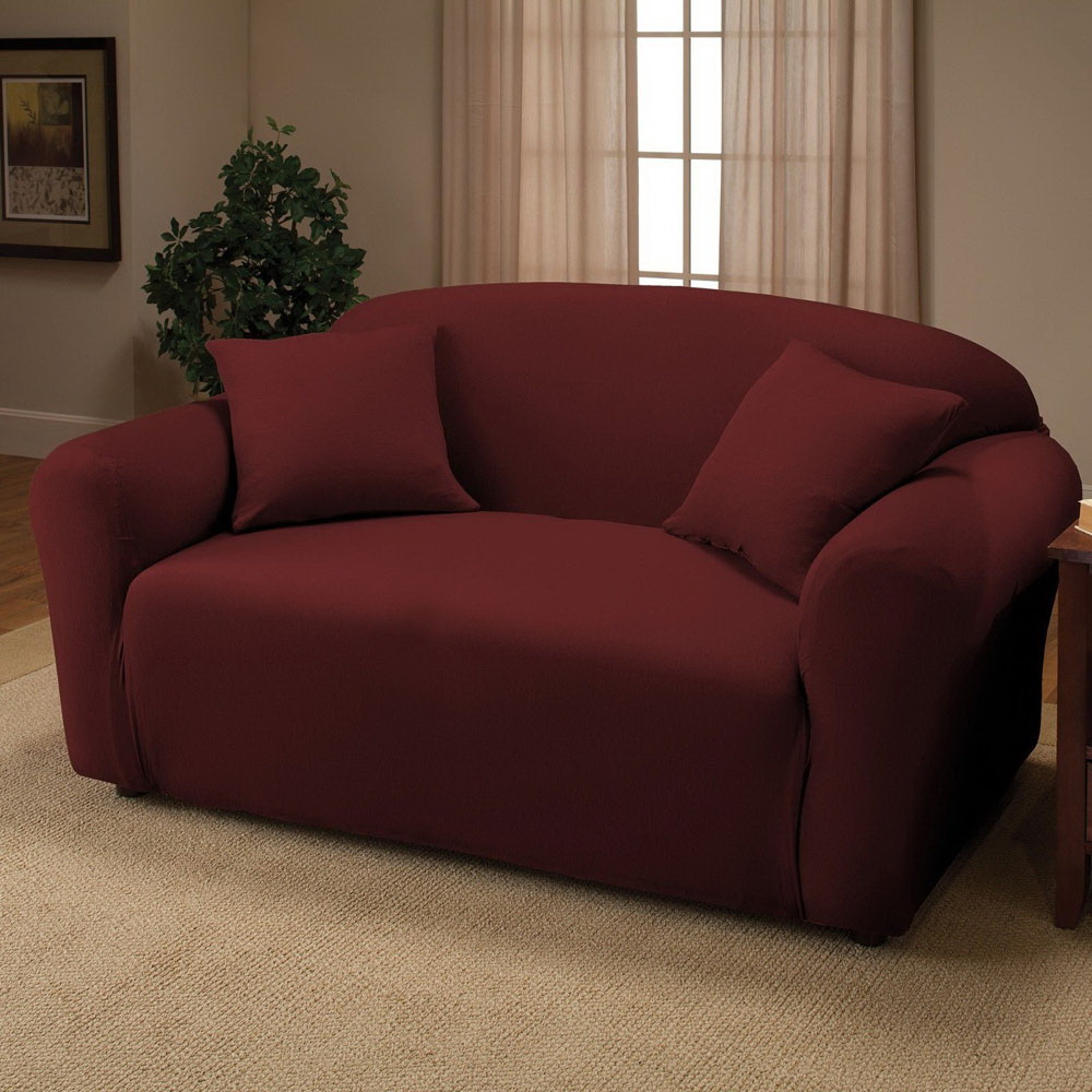 New Sofa Stretch Slipcover Sofa Cover Couch Cover Chair Loveseat Sofa Wine Red Ebay