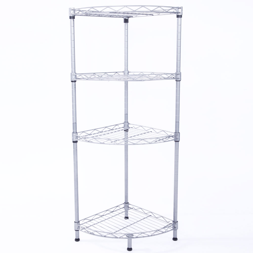 kitchen cabinet wire shelving corner 4 tier wire rack shelving shelf storage kitchen 5867