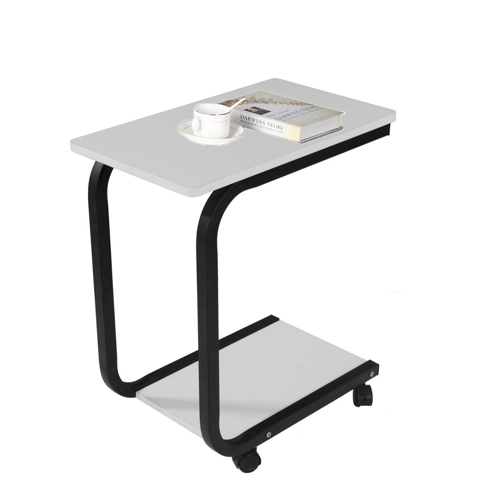 Portable Over Bed Laptop Desk Coffee Tray Side Sofa End Table Stand Rolling  New