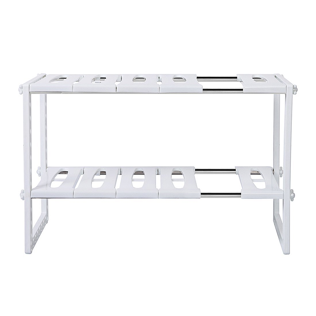 Under Shelf Basket Storage Space Saving Steel Bronze: 2-Tier Space Saving Expendable Under Sink Shelf Adjustable