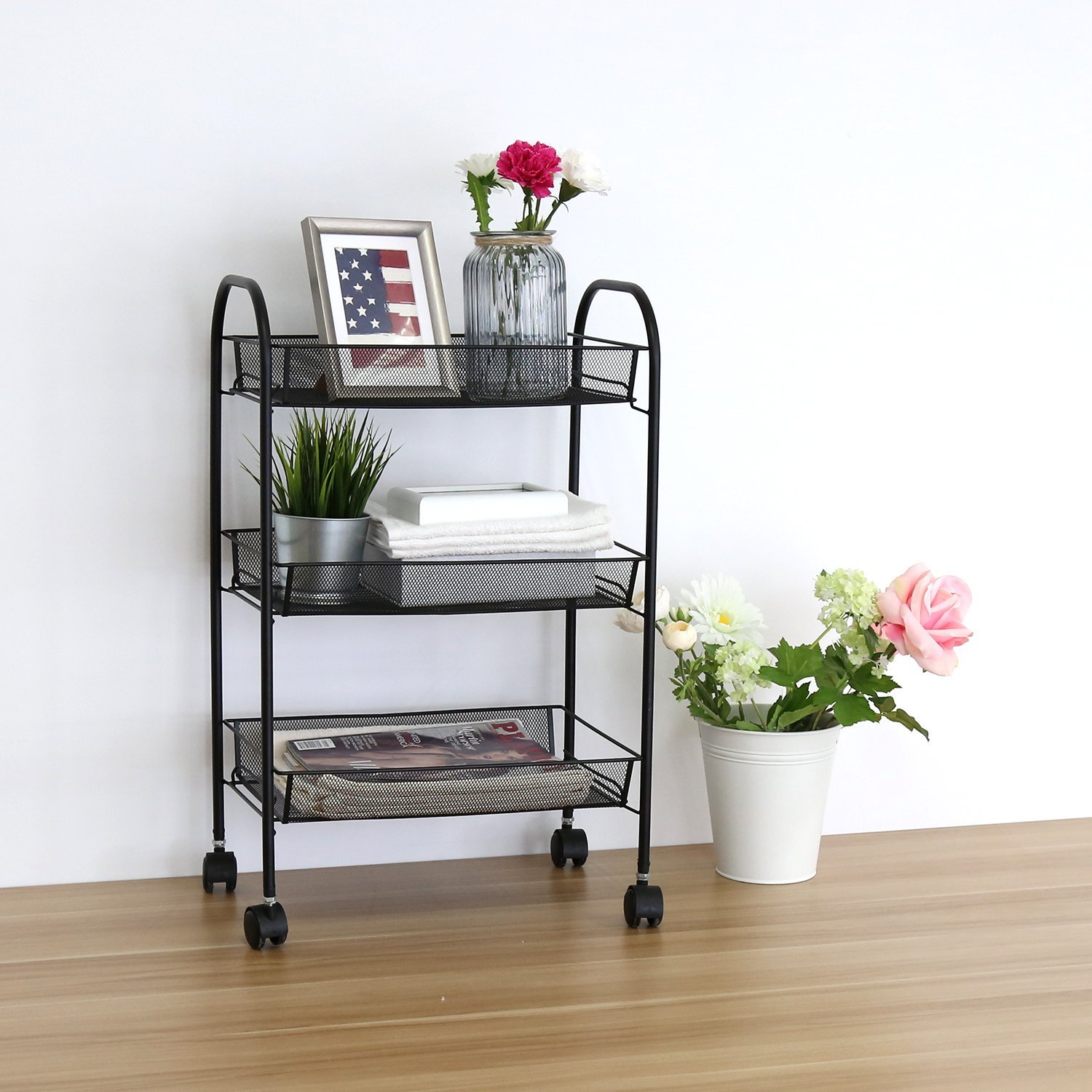 Kitchen Organizer Racks 3 shelf rack shelving rack rolling kitchen organizer storage utility 3 shelf rack shelving rack rolling kitchen organizer storage utility cart black workwithnaturefo