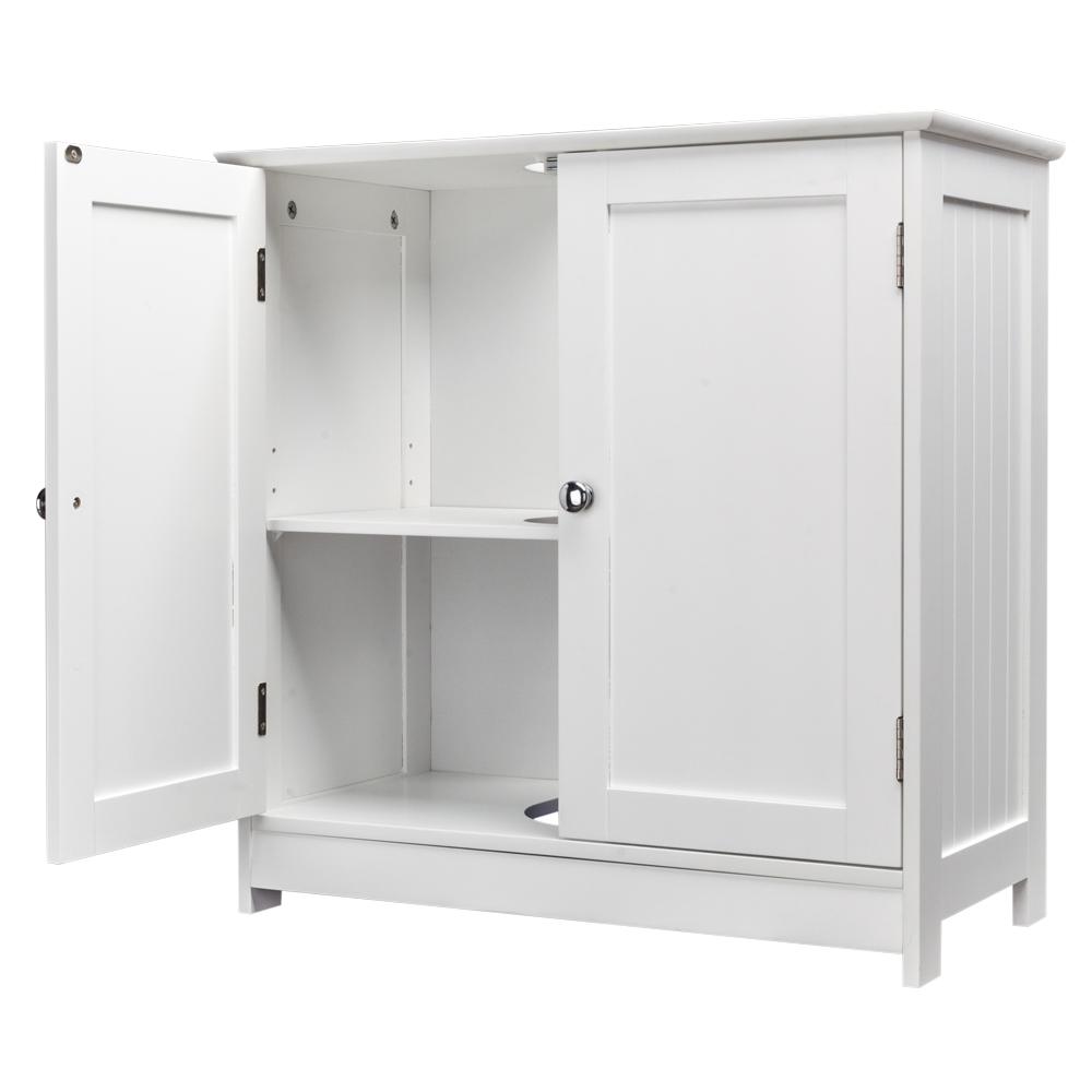 Modern Bathroom Vessel Sink & wood Vanity Storage Cabinet w Shelf ...