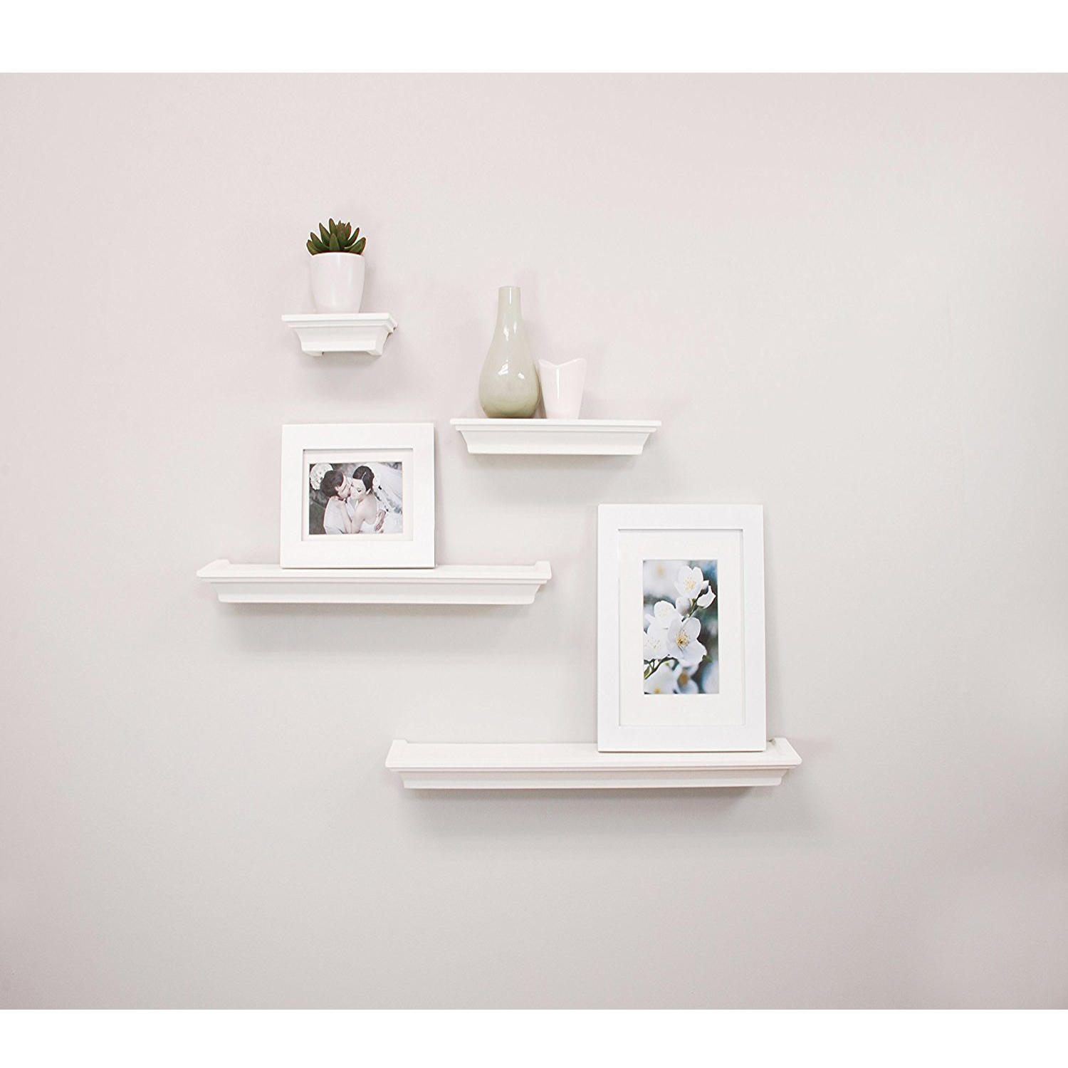 Set Of 4 Wall Mount Shelf Floating Display Home Decor