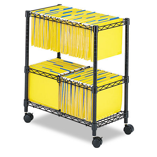 8acfd586edce Details about Two Tier Metal Rolling Mobile File Cart for Letter/Legal Size  Office Supplies