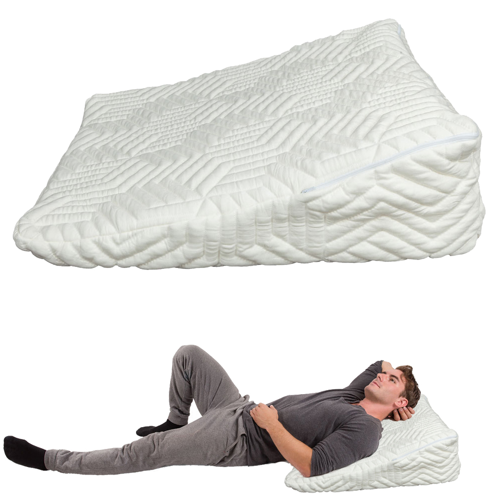 bed wedge pillow w washable cover acid reflux pain support cushion white - Bed Wedge For Acid Reflux