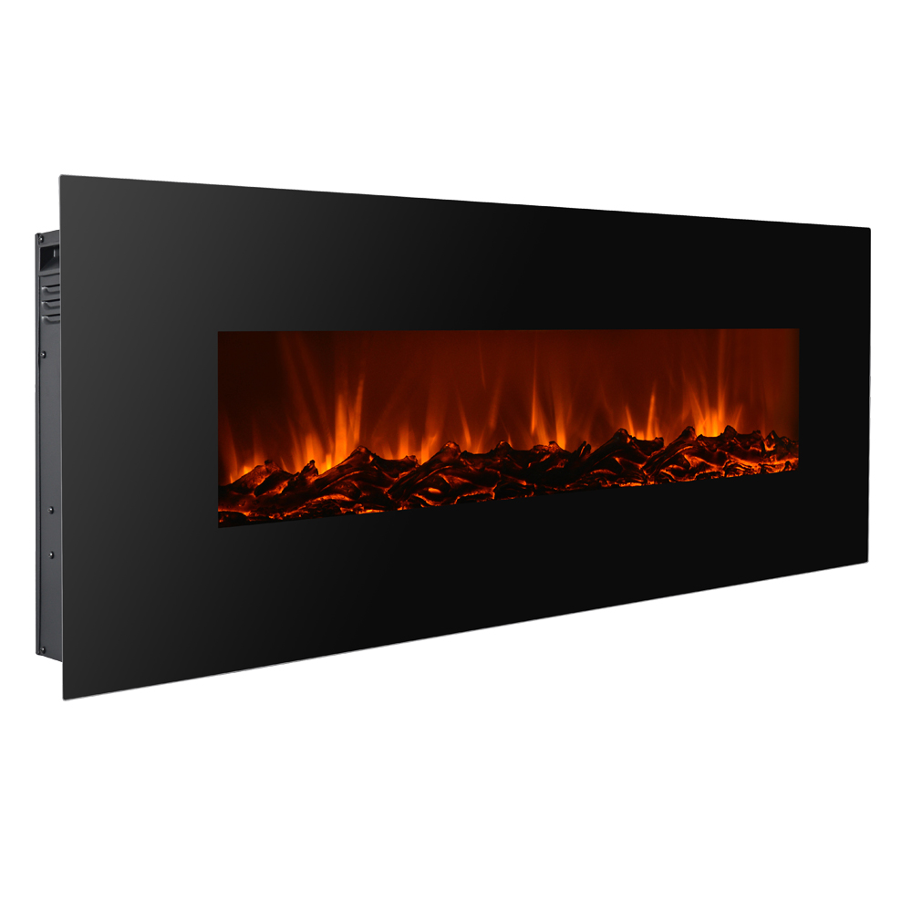 wall mount electric fireplace electric fireplace black 50 quot wall mount heater w 12761