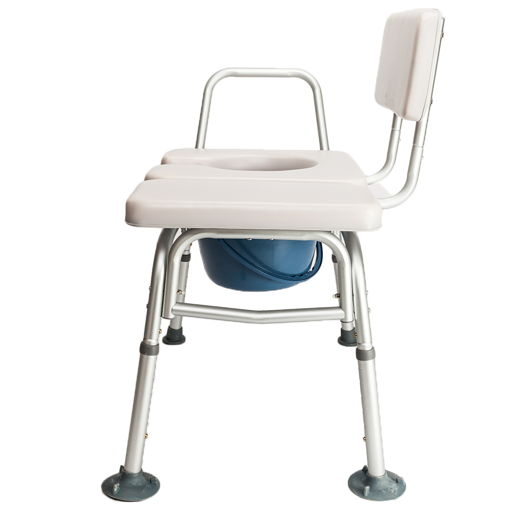 Adjustable Commode Chair Medical Bedside Bathroom Padded Toilet Seat ...