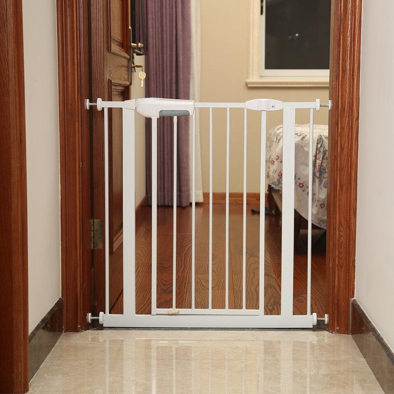 Easy Install Pet Dog Safety Gate Kids Baby Walk Through Child Toddler Stair  Door