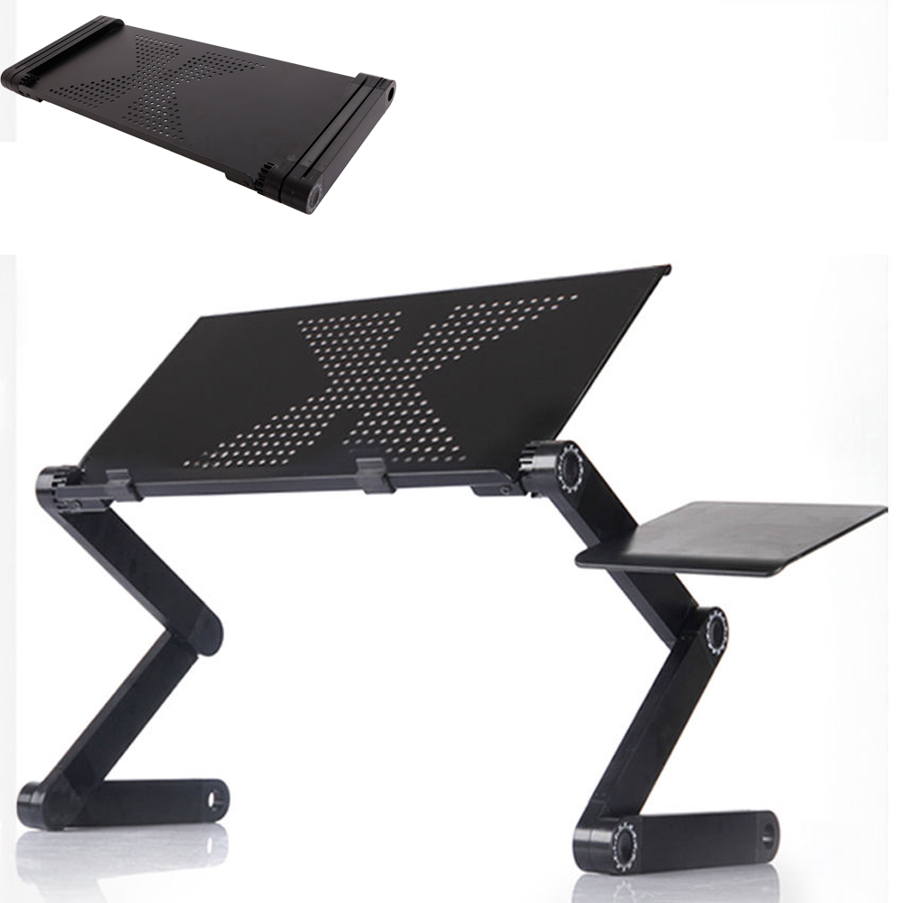 360 folding adjustable laptop notebook desk table stand bed tray w mouse tray 603964622464 ebay. Black Bedroom Furniture Sets. Home Design Ideas