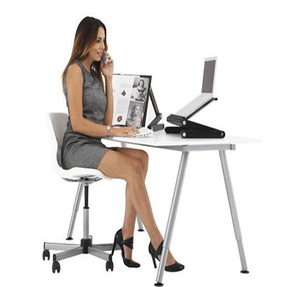 360 folding adjustable laptop notebook desk table stand bed tray w mouse tray 692752862038 ebay - Top office ordinateur portable ...