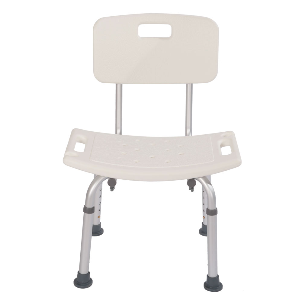 Adjustable height bath shower seat stool chair mobility for White bathroom stool
