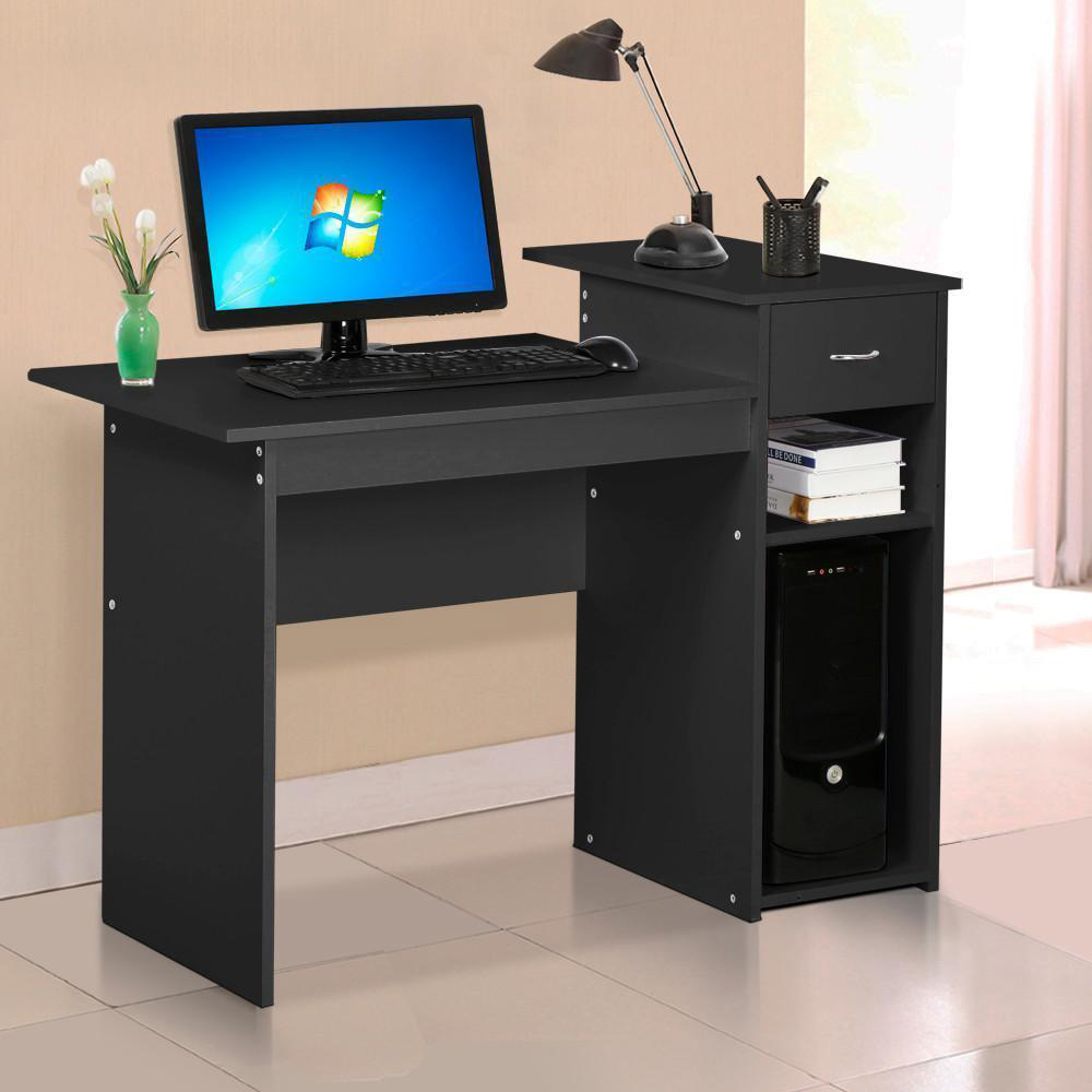 pc desk computer table home office furniture workstation pc laptop study furni ebay. Black Bedroom Furniture Sets. Home Design Ideas