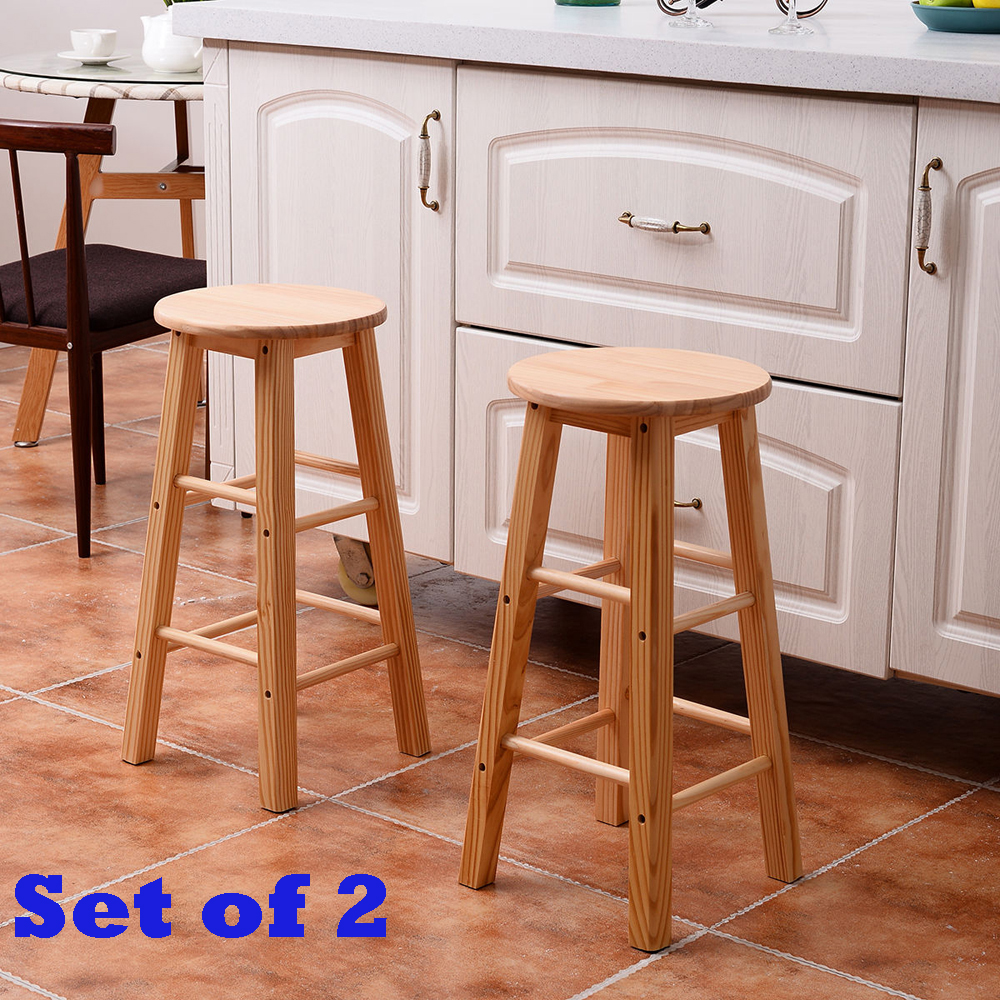 kitchen bar stools set of 2 wood counter stools bar stools dining kitchen 11369