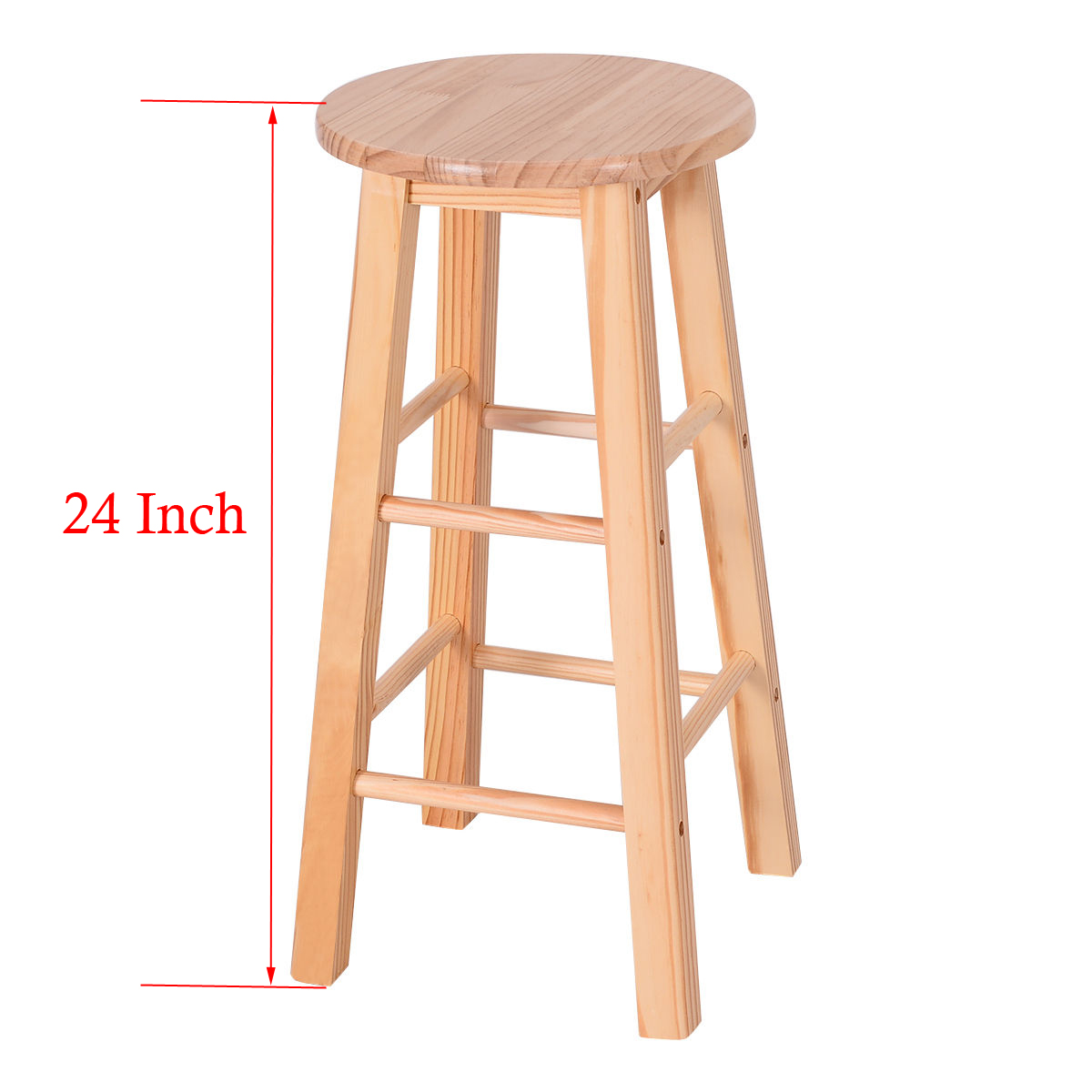 Set of 2 wood counter stools bar stools dining kitchen for 24 inch bar stools