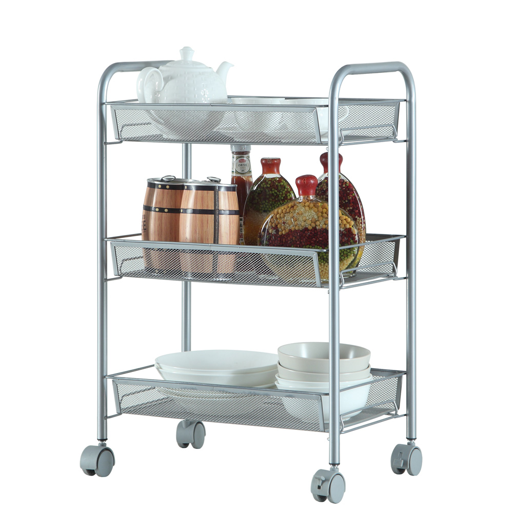3/4/5 Tier Rack Shelf Shelving W/Rolling Kitchen Pantry