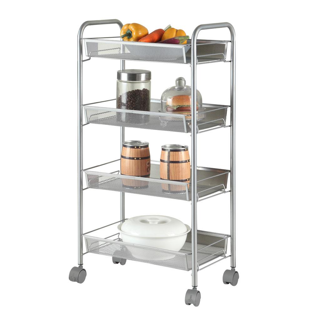 Kitchen Shelf Holders: 3/4/5 Tier Rack Shelf Shelving W/Rolling Kitchen Pantry