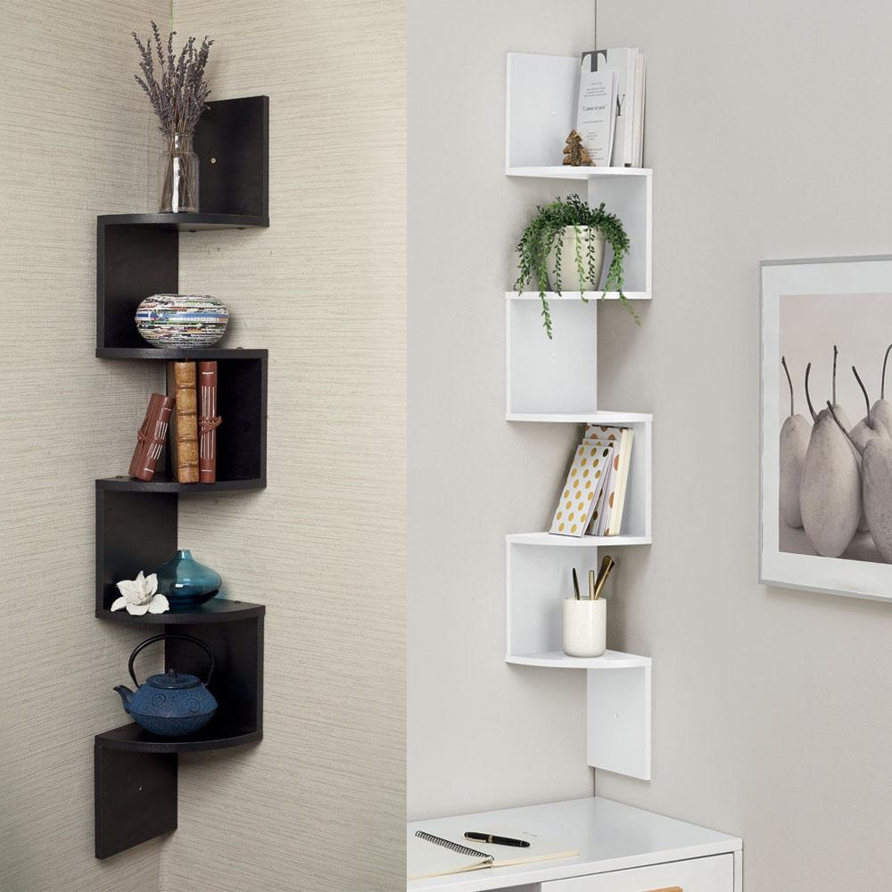 5 Tiers Wall Corner Artistic Shelf Furniture Floating