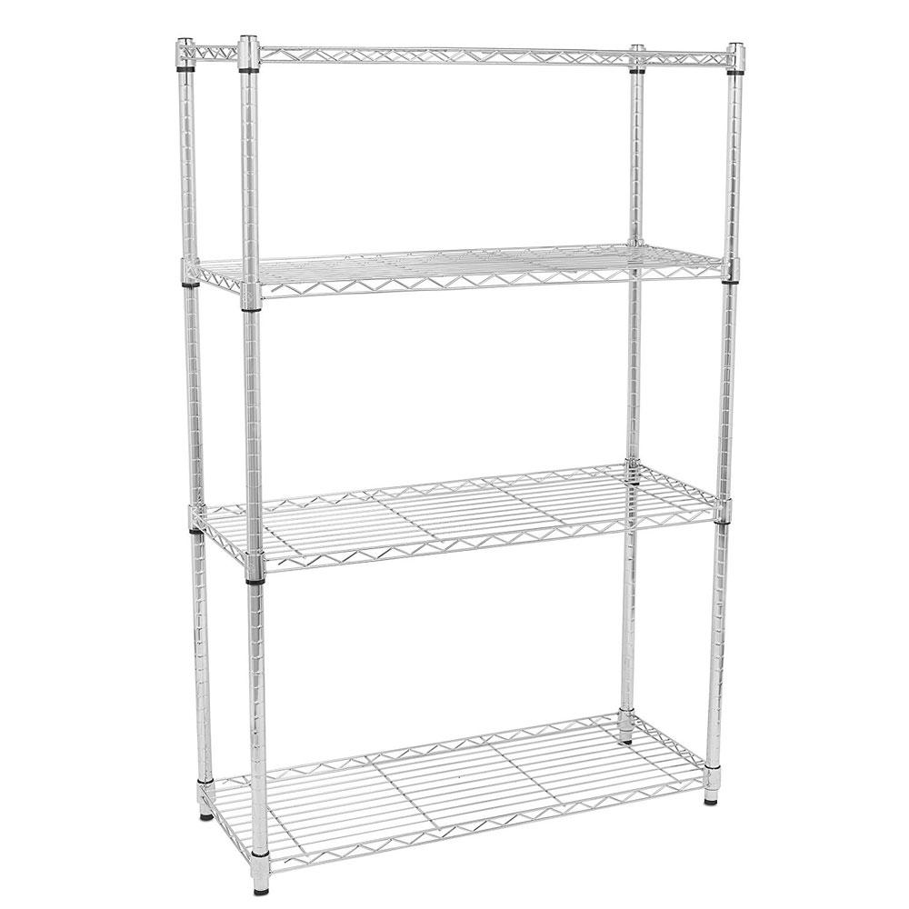 3/4/5 Tier Layer NSF Storage Rack Organizer Kitchen Shelving Steel ...