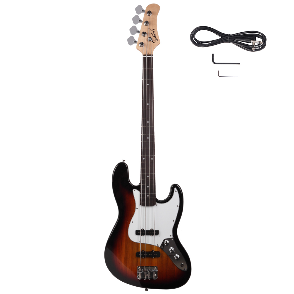 new 2 colors gjazz right handed 6 strings electric bass guitar for beginner ebay. Black Bedroom Furniture Sets. Home Design Ideas