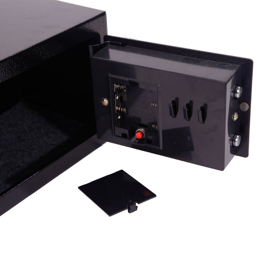 hot small black security steel digital electronic lock home office safe box 695975575785 ebay. Black Bedroom Furniture Sets. Home Design Ideas