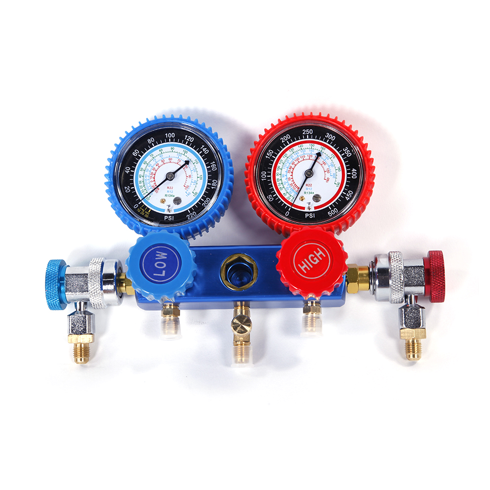 Details about Portable R134 R12 R22 A/C Manifold Gauge Set w/ 2 x R134a  Couplers Adapters New