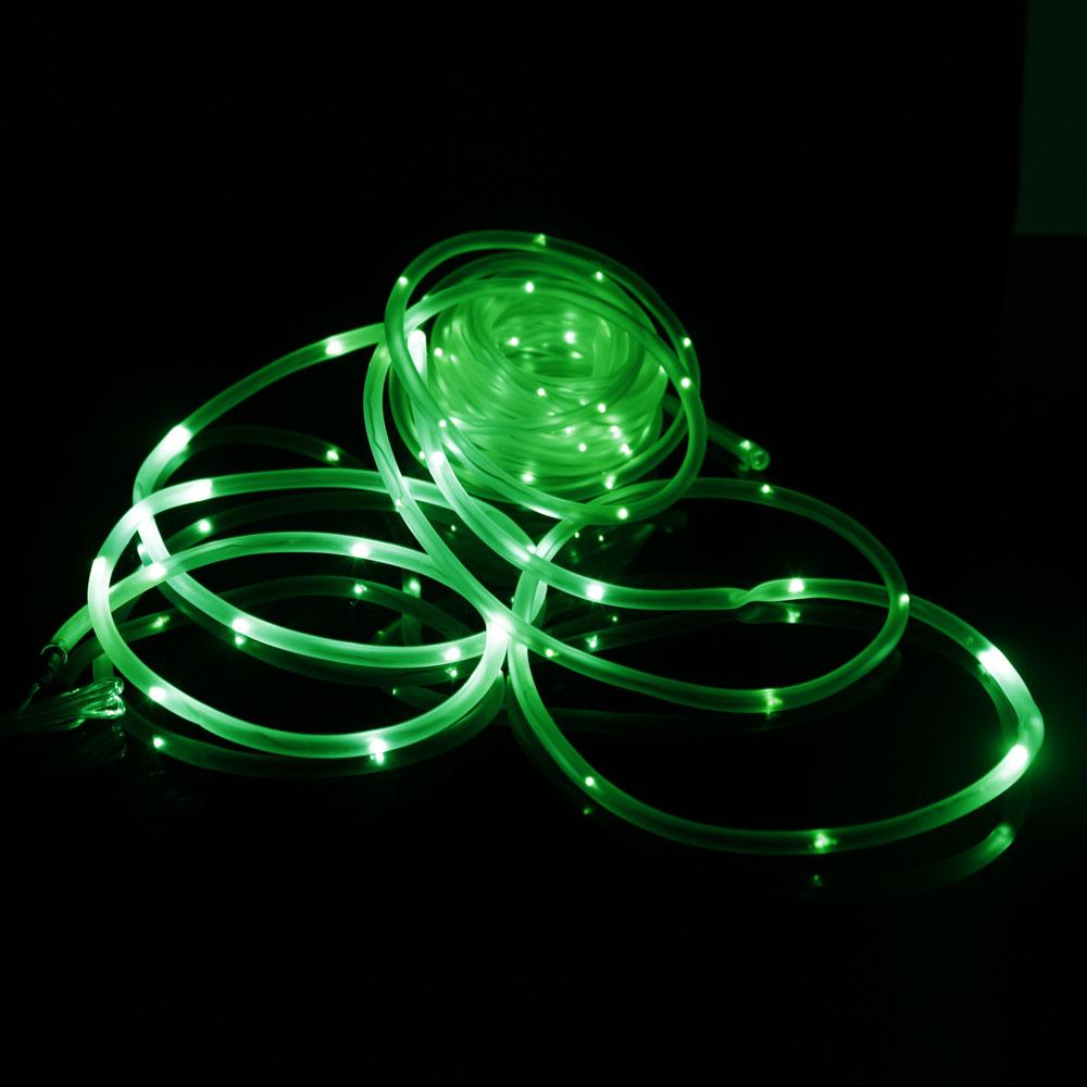 50 100 Led Solar Fairy String Light Tube Rope Garden