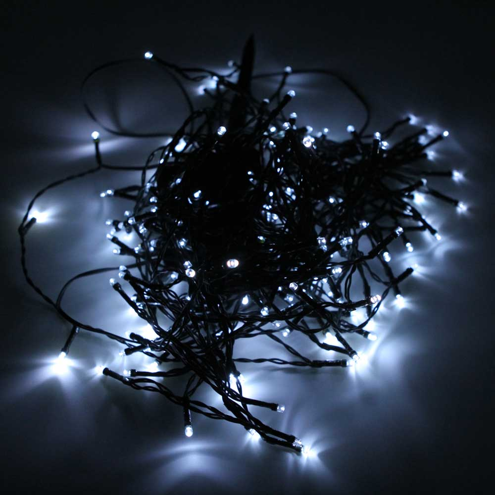 String Lights In Trees: 200 LED Solar Power Fairy String Lights Party Christmas