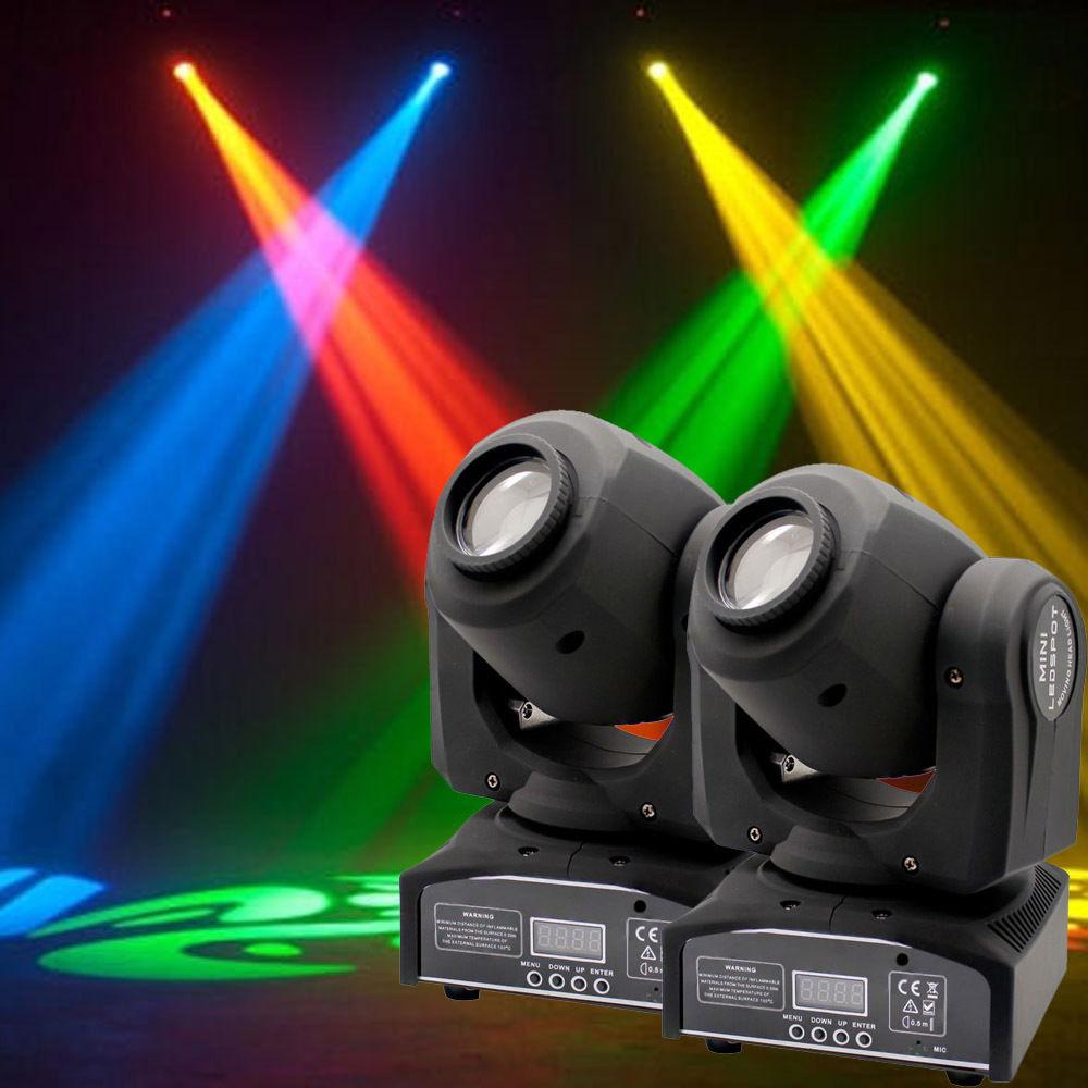 8Pcs 50W RGBW Spot LED Moving Head Stage Light DMX512 Disco DJ Party Lighting US