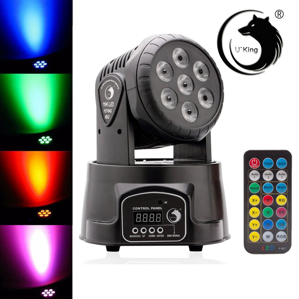 70w rgbw 7 led moving head light dmx512 dj club stage lighting us uk au eu plug ebay. Black Bedroom Furniture Sets. Home Design Ideas