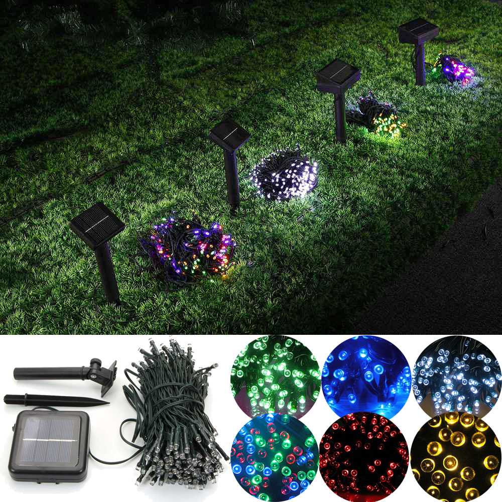 200 led solar power fairy string lights party christmas. Black Bedroom Furniture Sets. Home Design Ideas