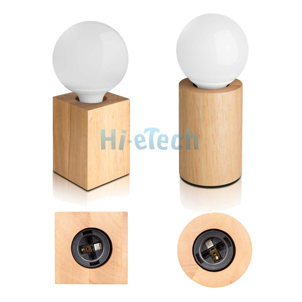 e27 5w 100 240v modern minimalist solid oak wood table lamp with led light bu. Black Bedroom Furniture Sets. Home Design Ideas
