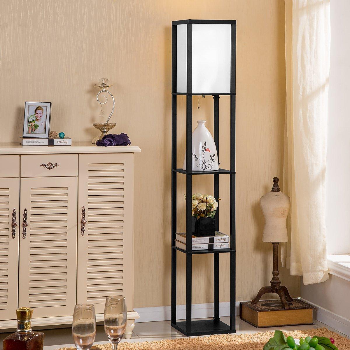 morden floor lamp sitting room contemporary wooden the bedroom vertical light ebay. Black Bedroom Furniture Sets. Home Design Ideas