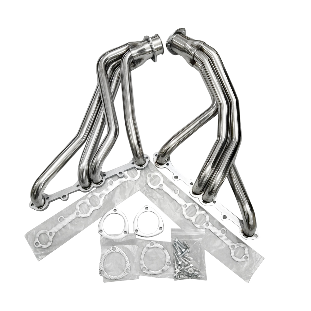 FOR 67-77 ACTION-LINE SBC V8 STAINLESS RACING MANIFOLD LONG TUBE HEADER//EXHAUST
