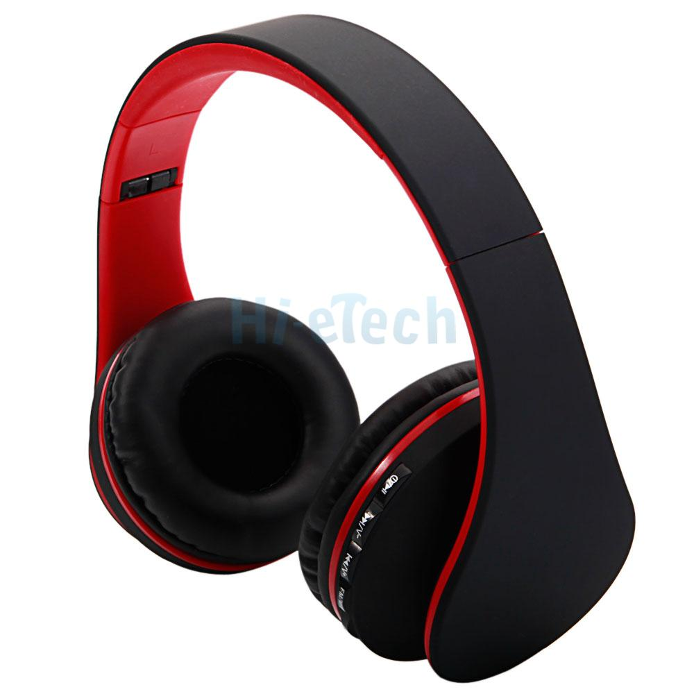 foldable fm bluetooth wireless headset stereo headphone mic for iphone samsung ebay. Black Bedroom Furniture Sets. Home Design Ideas