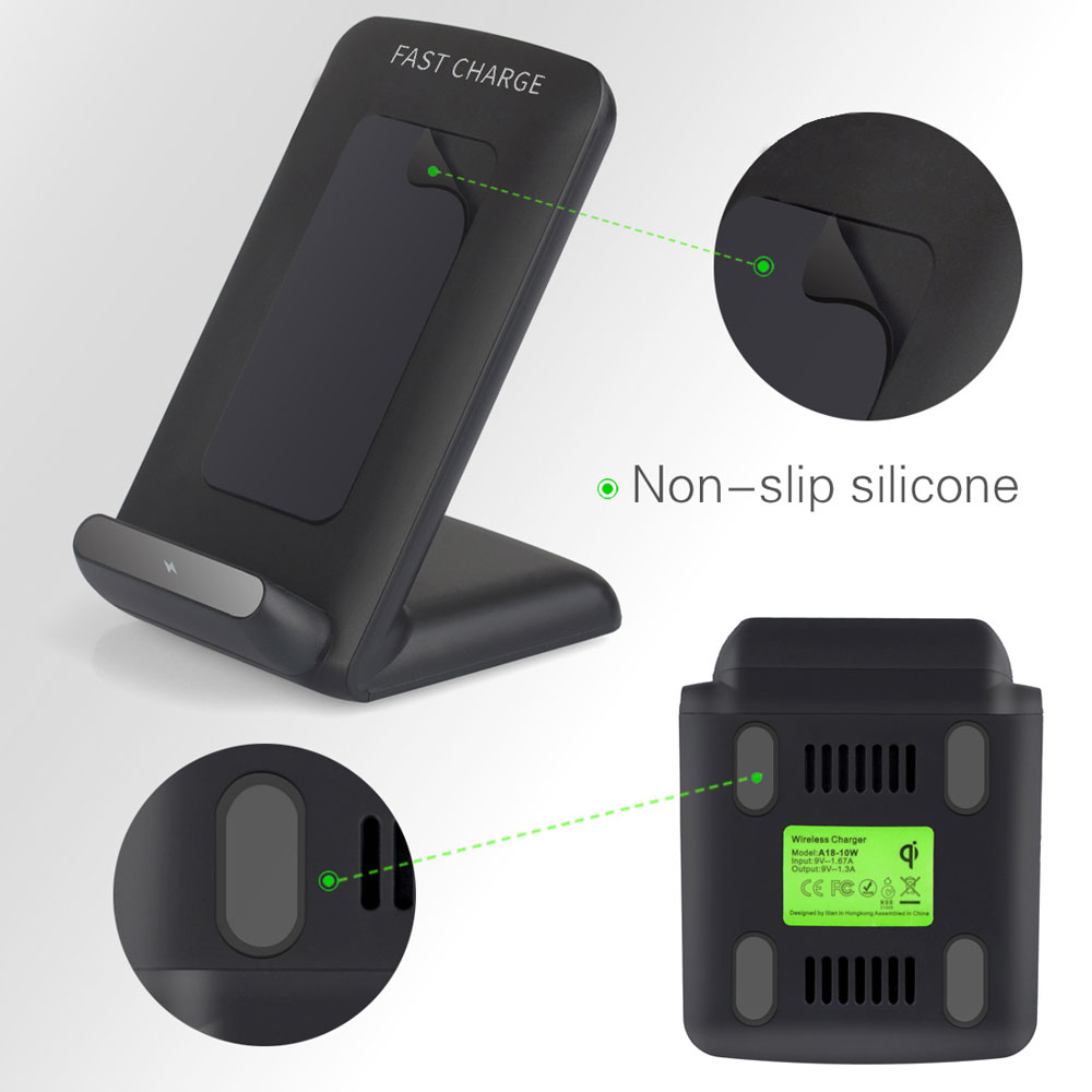 Fast Wireless Charger For Samsung S8 S8 S7 S7 Edge S6 S6 Edge Plus Note5 Black Ebay