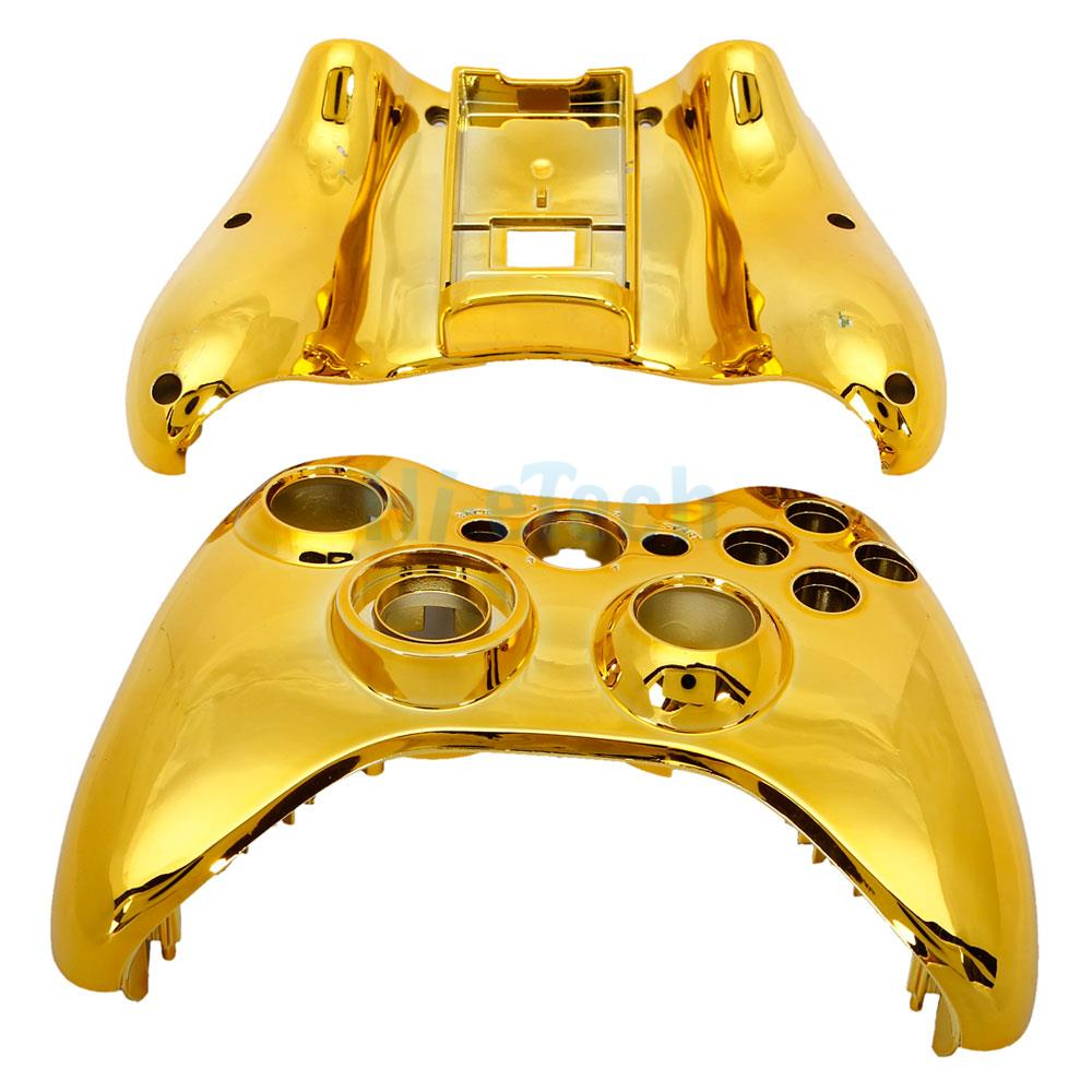 Gold Cover Decal Stickers For Xbox One Slim Console + 2 ... |Gold Xbox One Controller Skin