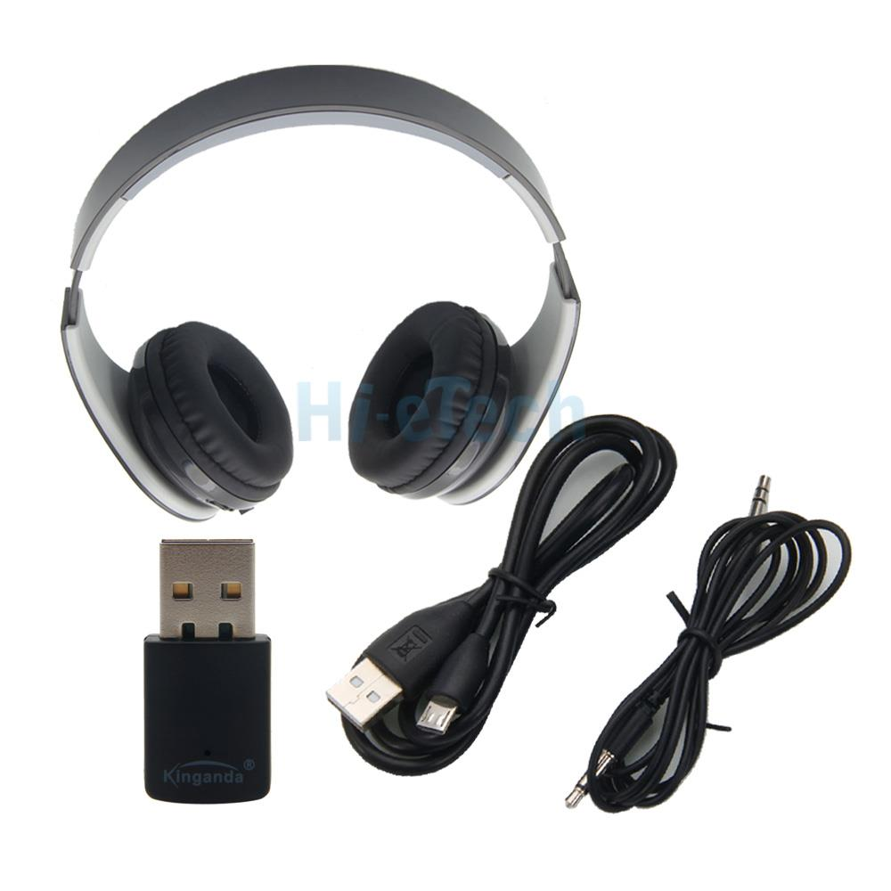 bluetooth wireless stereo headset with receiver usb for. Black Bedroom Furniture Sets. Home Design Ideas