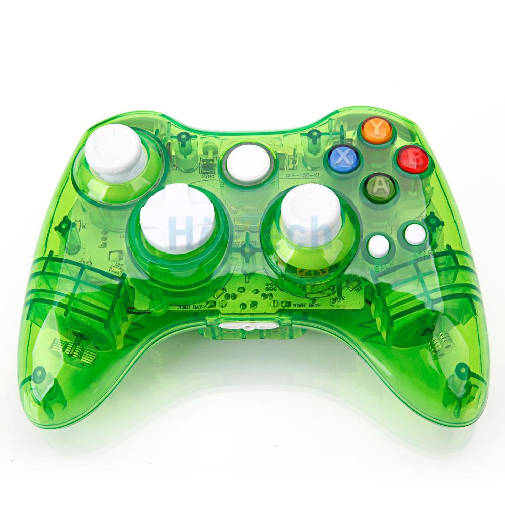 green afterglow wireless remote gamepad controller for. Black Bedroom Furniture Sets. Home Design Ideas