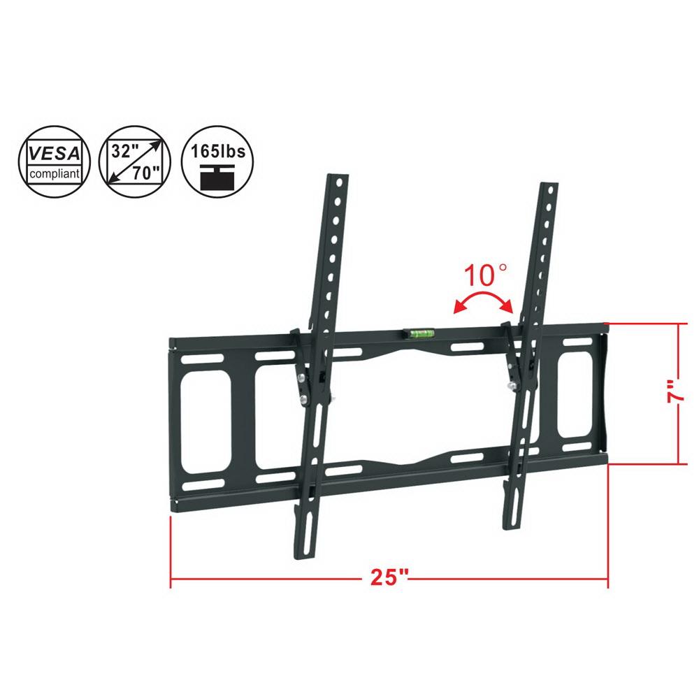 tilt lcd led plasma flat tv wall mount bracket 32 37 40 42 47 50 52 55 60 65 70 u0026quot
