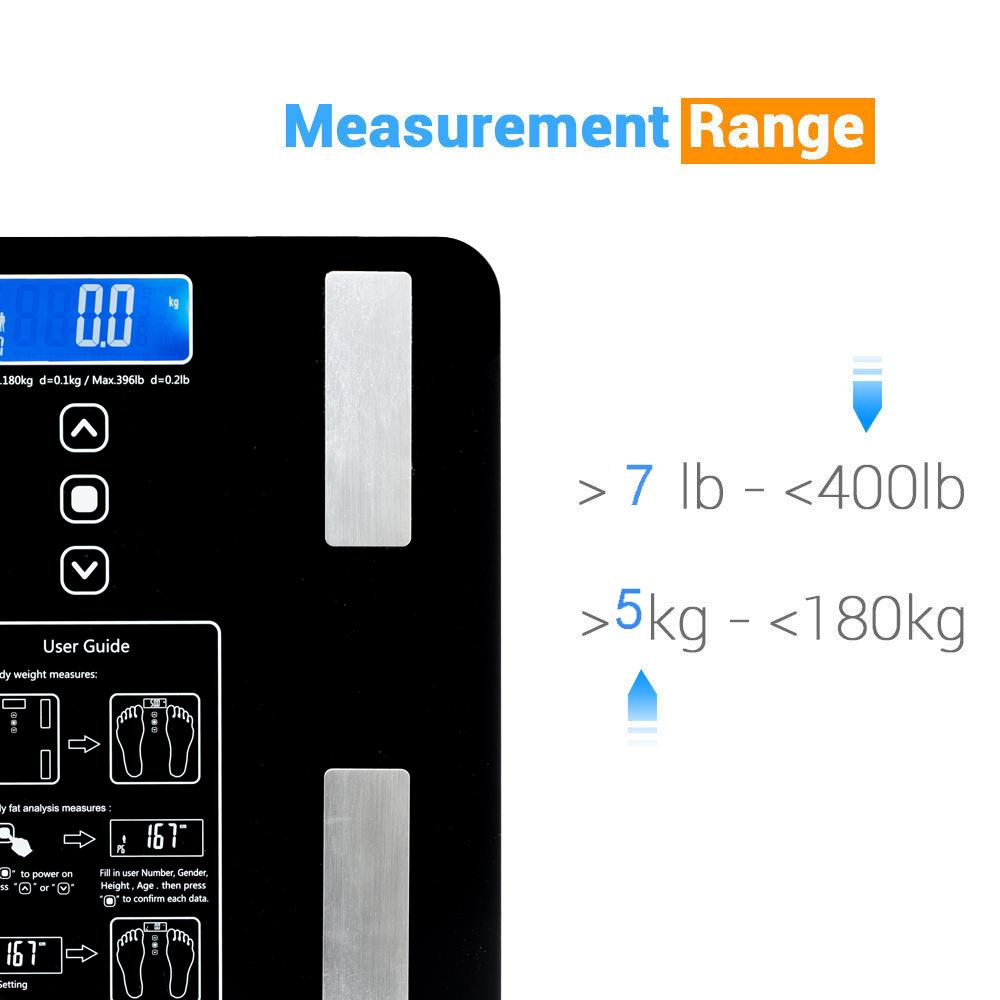 Smart Touch Weight Measure 180kg Digital Track Body Bmi Fat Timbangan Badan Personal Scale Indeks Kesehatan Art Water Muscle Calorie Bathroom 400lb