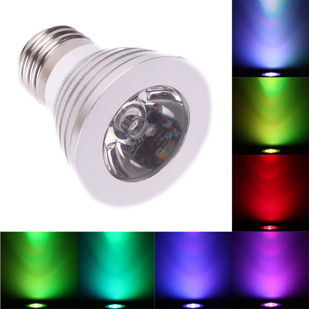 20x e27 3w multi color rgb led spot light bulb lamp remote control 85 265v ebay. Black Bedroom Furniture Sets. Home Design Ideas