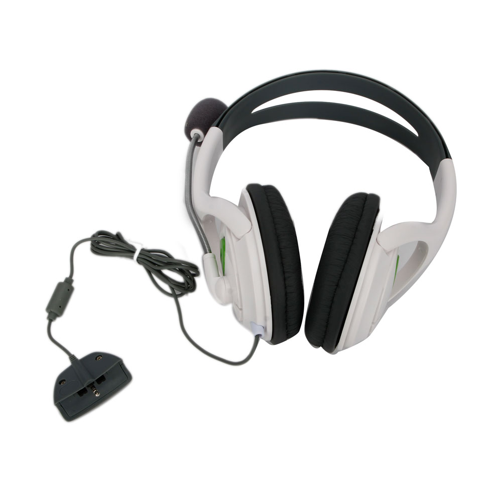 big headset headphone with mic for xbox 360 controller usb breakaway cable ebay. Black Bedroom Furniture Sets. Home Design Ideas