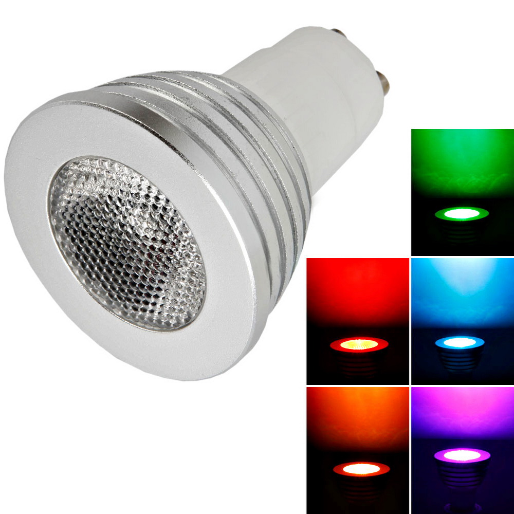 16x gu10 5w 400lm color changing rgb led light bulb w remote control 85 265v ebay. Black Bedroom Furniture Sets. Home Design Ideas