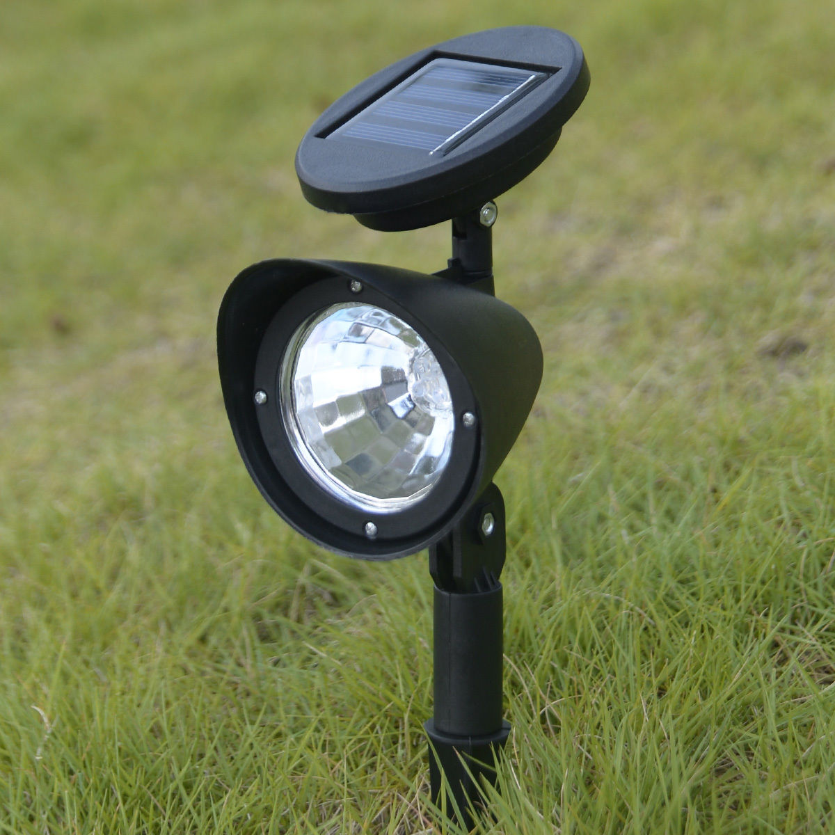 8x led solar spot light outdoor garden lawn spotlight landscape path light lamp. Black Bedroom Furniture Sets. Home Design Ideas